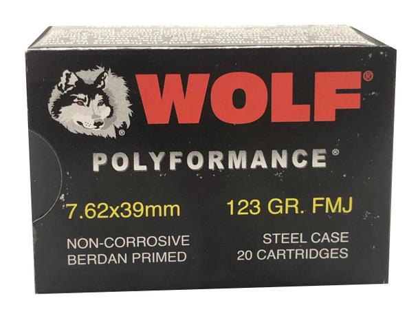 WOLF POLYFORMANCE 7.62X39MM 123 GRAIN FMJ