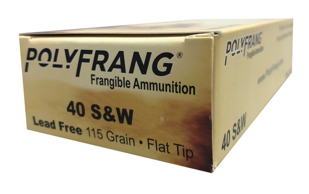 Polyfrang 50 Rounds, 40 S&W 115 Grain Flat Tip