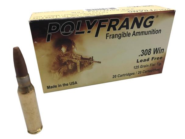 PolyFrang 20rds .308 125 Grain Flat Tip