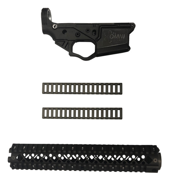 Black ATI OMNI AR Lower Receiver Blackhawk Rifle Length Rail Deal UPC: 813393017049-BRLR