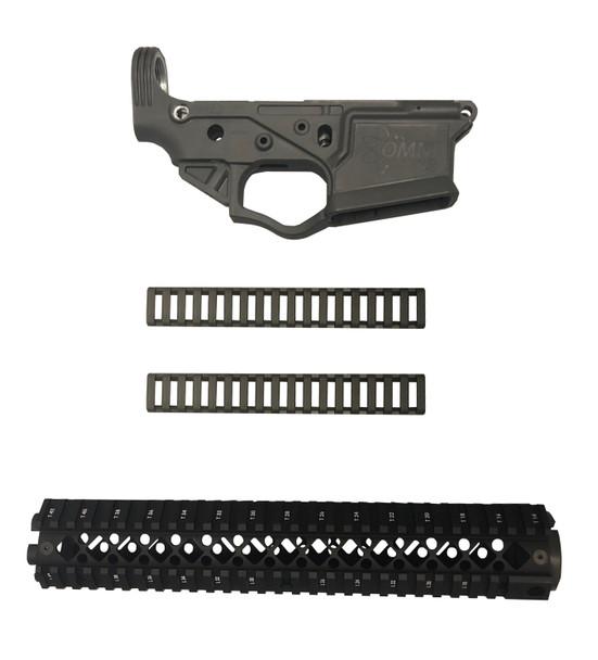 Gray ATI OMNI AR Lower Receiver Blackhawk Rifle Length Rail Deal UPC: 819644022510-GRLR
