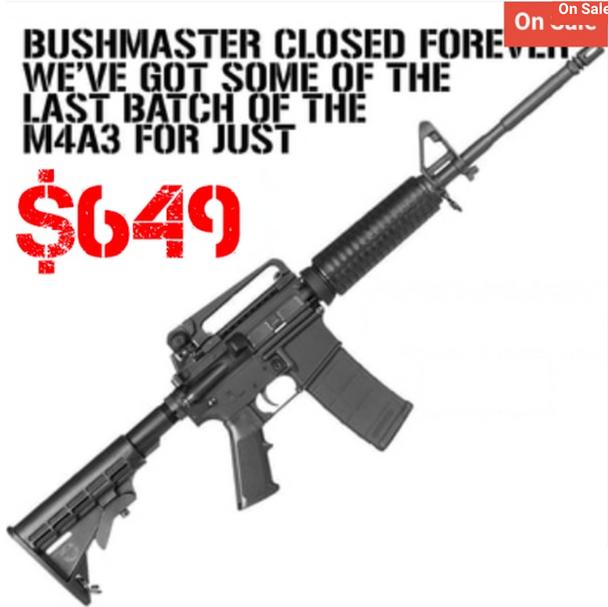 "Bushmaster M4A3 XM-15 A3 Patrolmans Carbine 223 Rem,5.56 NATO 16"" UPC: 604206072252"