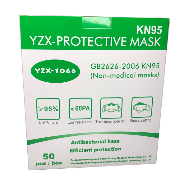 YZX KN95 Protective Masks Box of 50 UPC: 6973207110015
