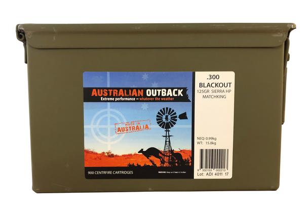 Australian Outback, 900rd .300 Blackout 125gr Sierra Match King HP, M2A1 UPC: 9332153002213