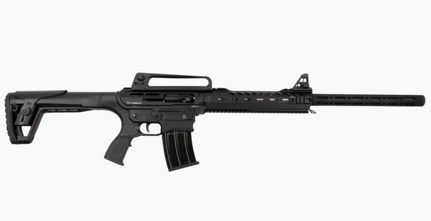 "Radikal Arms MKX-3 12 Gauge 24"" Barrel AR 15 Style Gas Operated Semi Auto Shotgun, 2 x 5 round Magazines, Black Polymer Furniture UPC: 00850003223148"