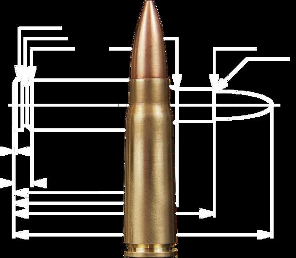 Belom Brass Case 7.62x39 123 Grain FMJ 20 Round Box UPC: 8606110608093