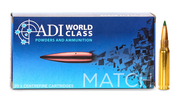 ADI World Class .308 WIN, 168 Grain Sierra Tipped MatchKing, 20 Round Box UPC: 9332153002749