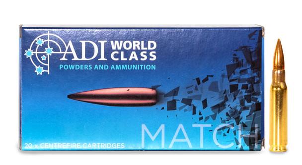 ADI World Class .308 WIN, 168 Grain Sierra MatchKing, 20 Round Box UPC: 9332153002718