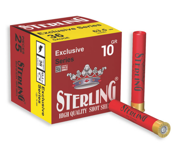 Sterling Exclusive Series .410 Cal #8 Shot Case Length 2 1/2 28g 25 Round Box UPC: 8698779961343