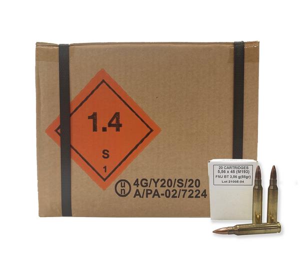 Global Ordnance 5.56x45mm 55 Grain FMJ Brass Case 1000 Round Case $12.95 Flat Rate Shipping UPC: 850003223353