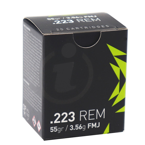 Igman .223 55 grain FMJ 20 round box UPC: 3877002037078