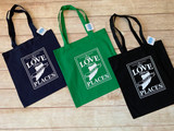 Love Local Shopping Tote by Wicked Stitches