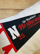 College Pennant Pillow By Wicked Stitches Gifts