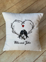Lovebirds Pillow by Wicked Stitches