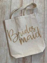 Bridesmaid tote by Mudpie.  Available at Wicked Stitches Gifts.