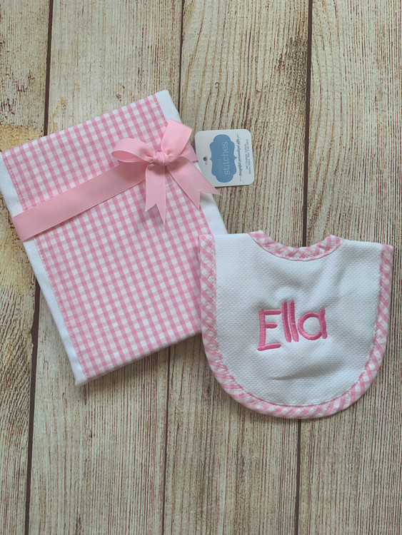 Bib and Burp Set