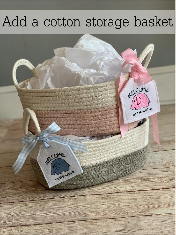 We are happy to wrap for you!  Wrap it up in a soft cotton storage basket and gift embroidered tag!  Wicked Stitches Gifts.