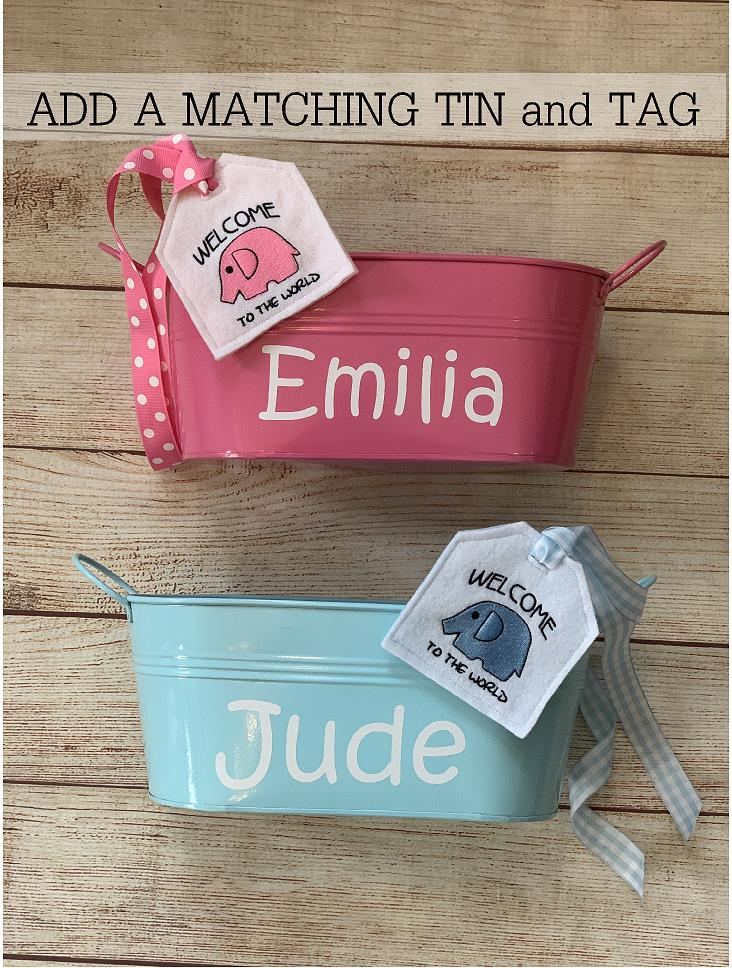 We have great wrap options!  Wrap it up in a useful, fun personalized gift tin and embroidered tag.