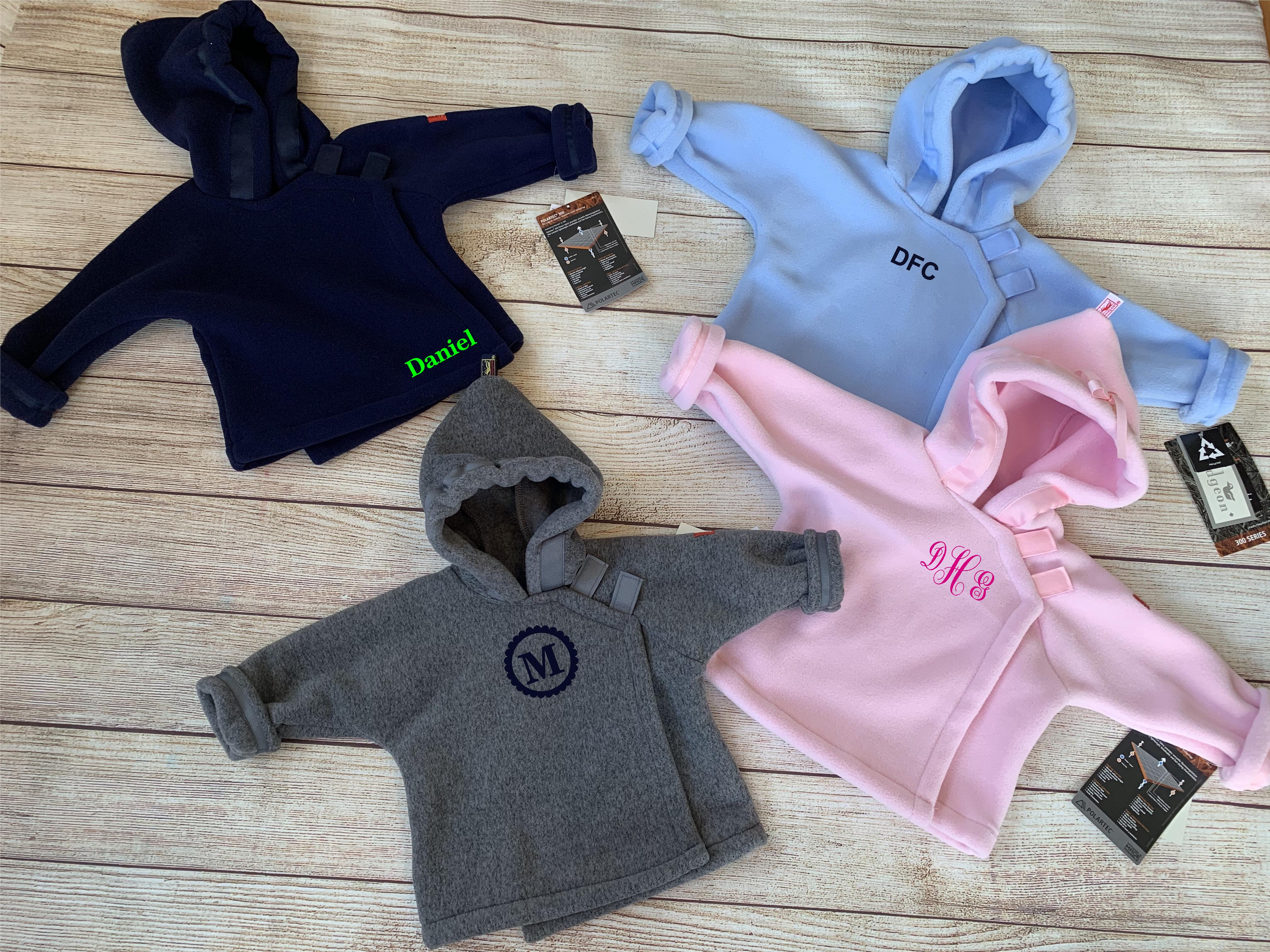 Our stock Widgeon Fleece Jackets colors by Wicked Stitches Gifts
