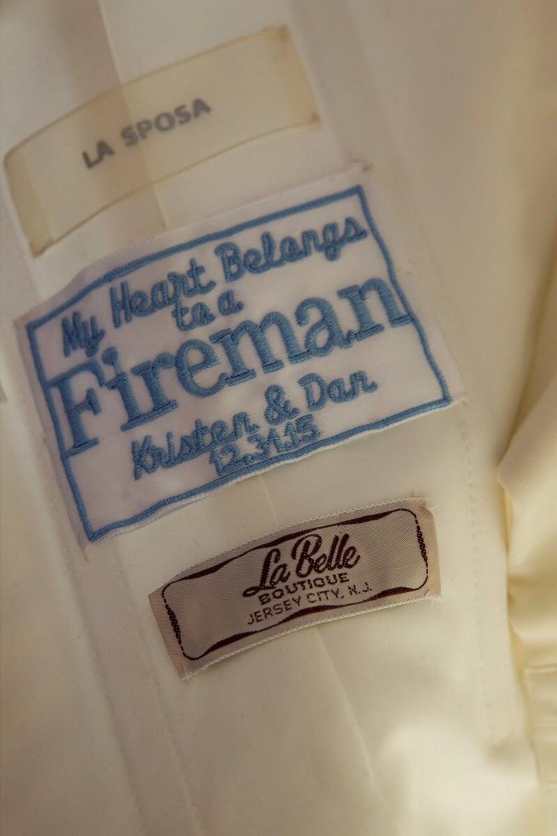 Sew this gorgeous label into your Wedding Gown for a most personal touch.  Wicked Stitches Gifts.