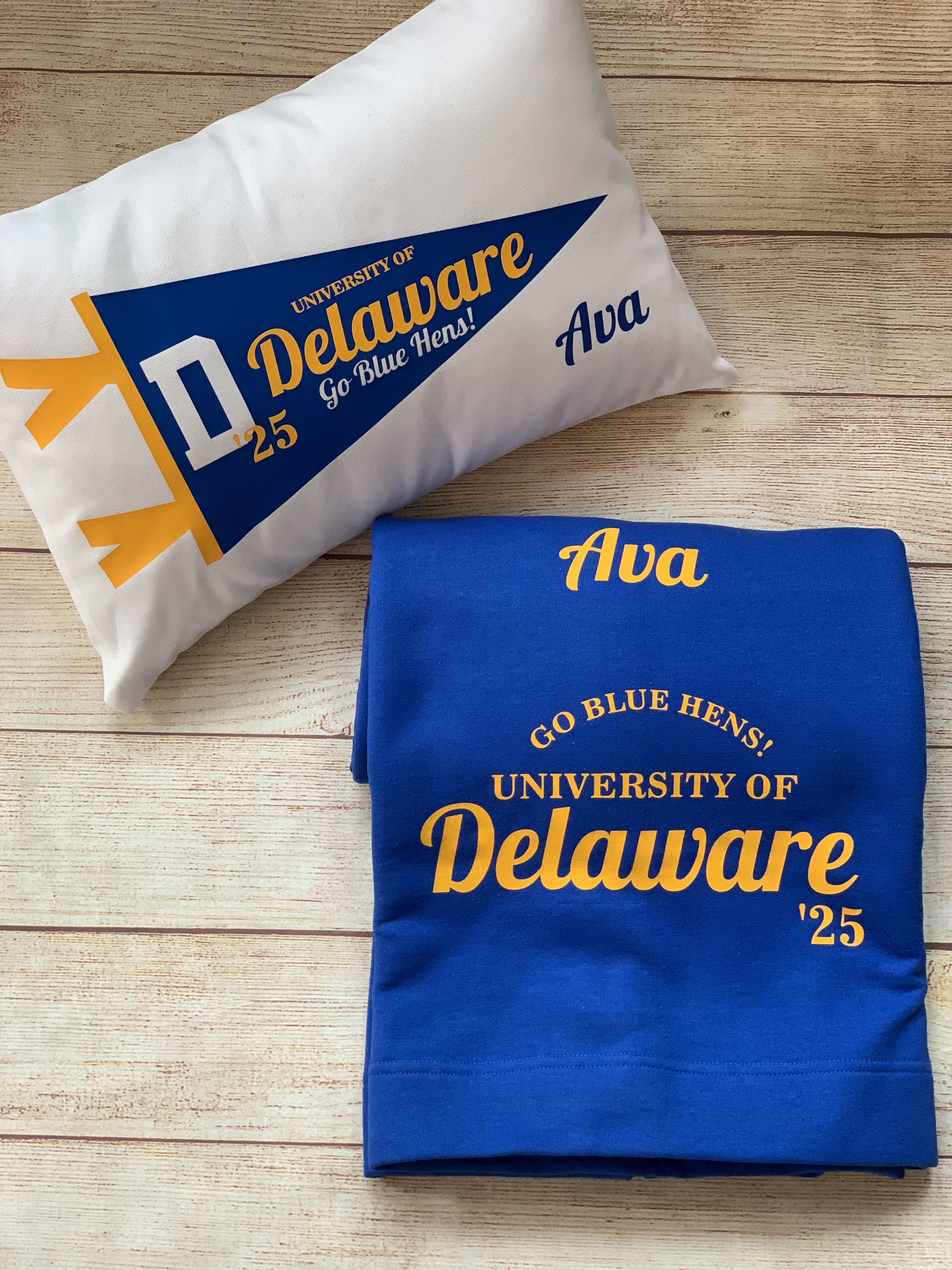Hats off to the Grad!  Send a great gift to mark the day!  Study blanket and Pennant Pillow by Wicked Stitches.