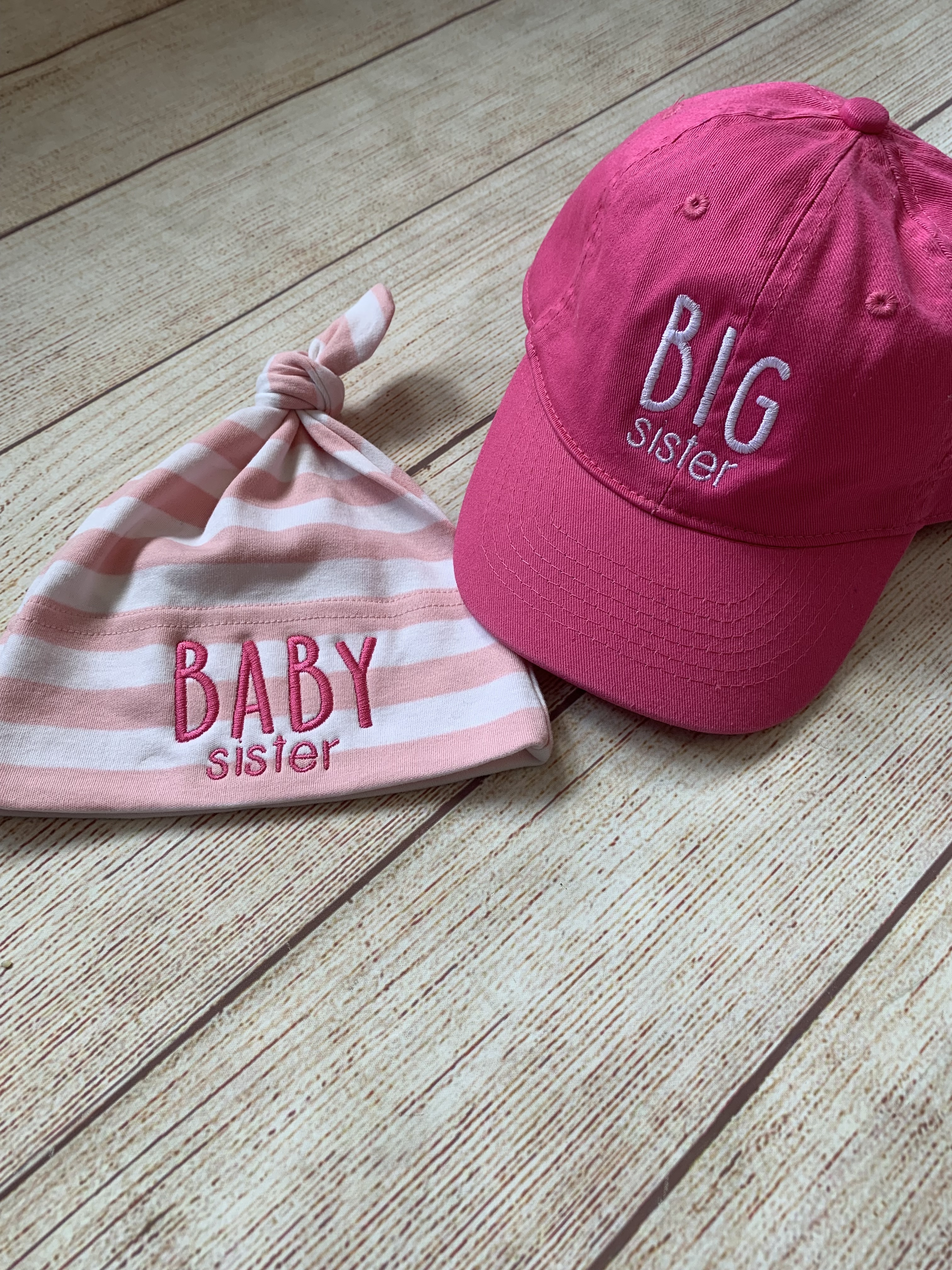 What a cute gift for the siblings by Wicked Stitches Gifts.
