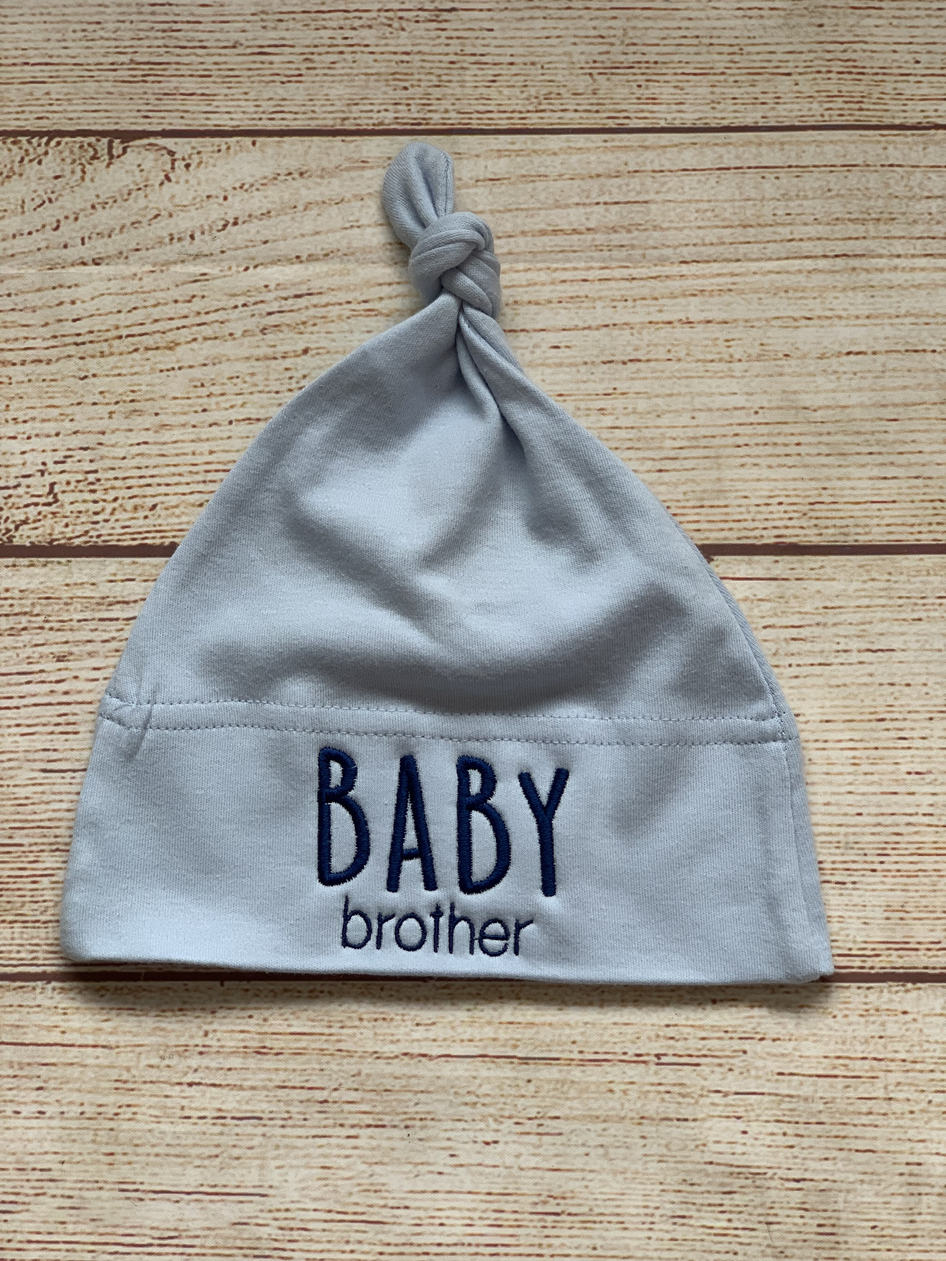 Baby Brother knot cap is the perfect little gift for the perfect little brother by Wicked Stitches Gifts