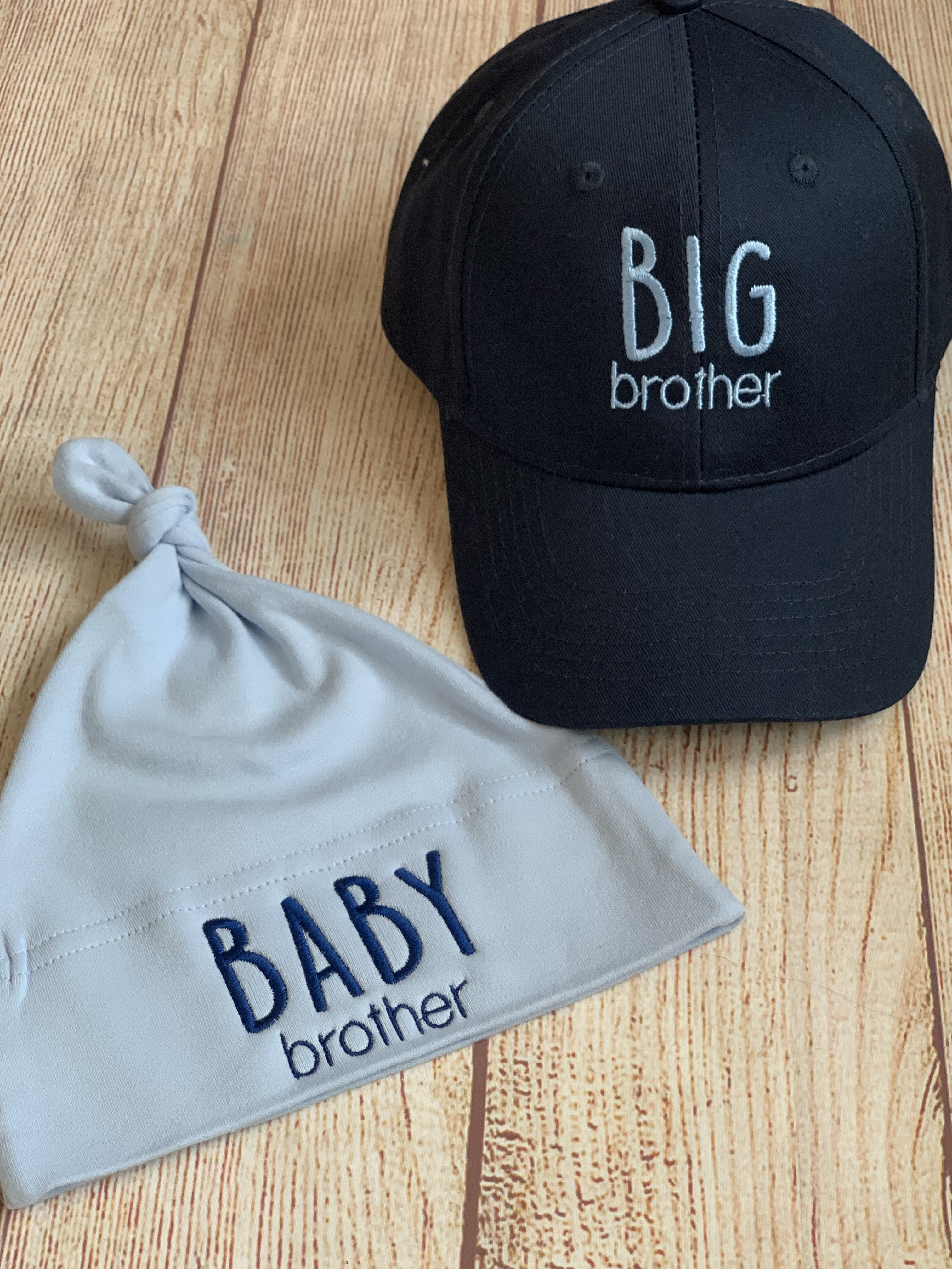 What a cute gift to bring for the big brother and the baby brother!  Wicked Stitches Gifts.
