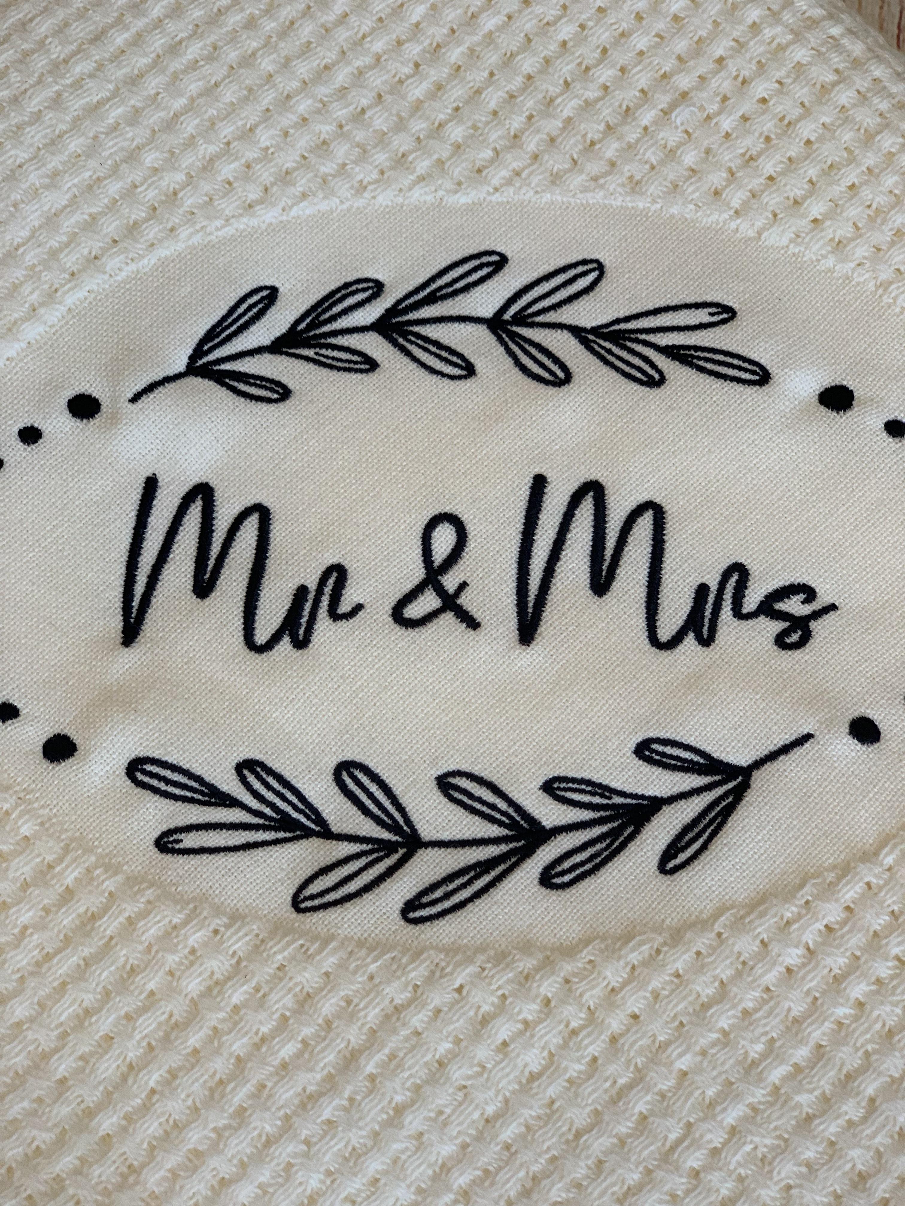 Mr. + Mrs. Basketweave Blanket