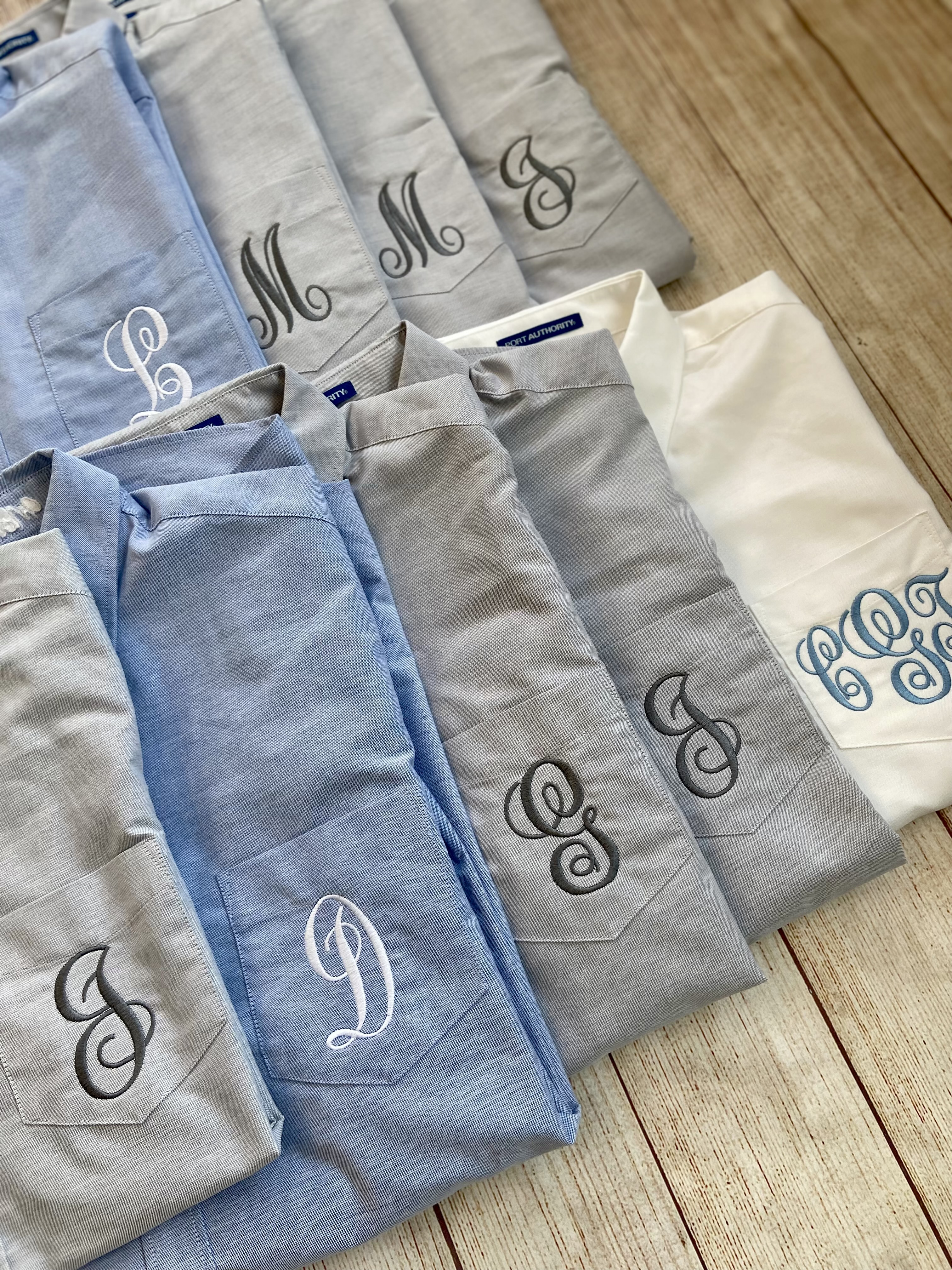 Get them for the whole bridal party! Monogram oxfords by Wicked Stitches.