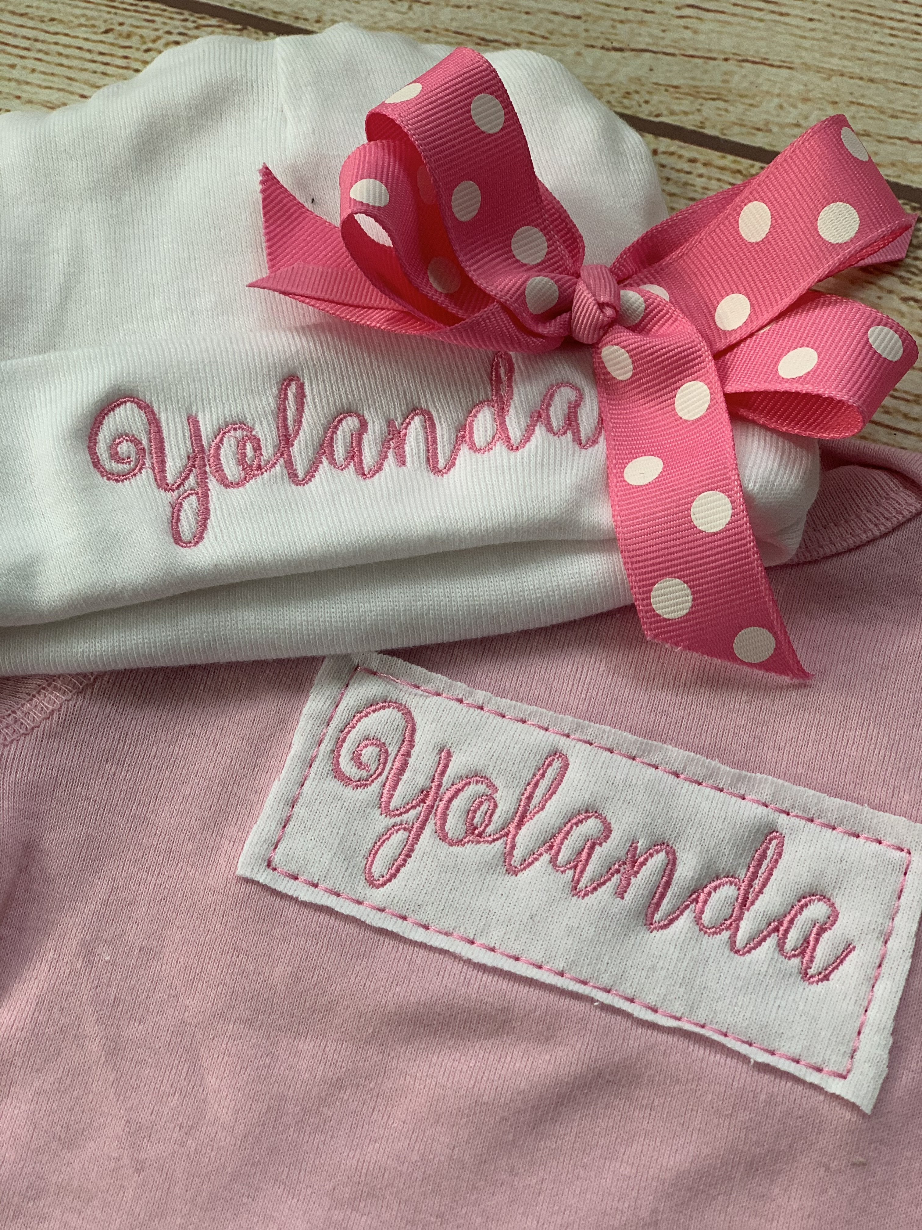 Super duper cute for the new baby girl!  Wicked Stitches Gifts