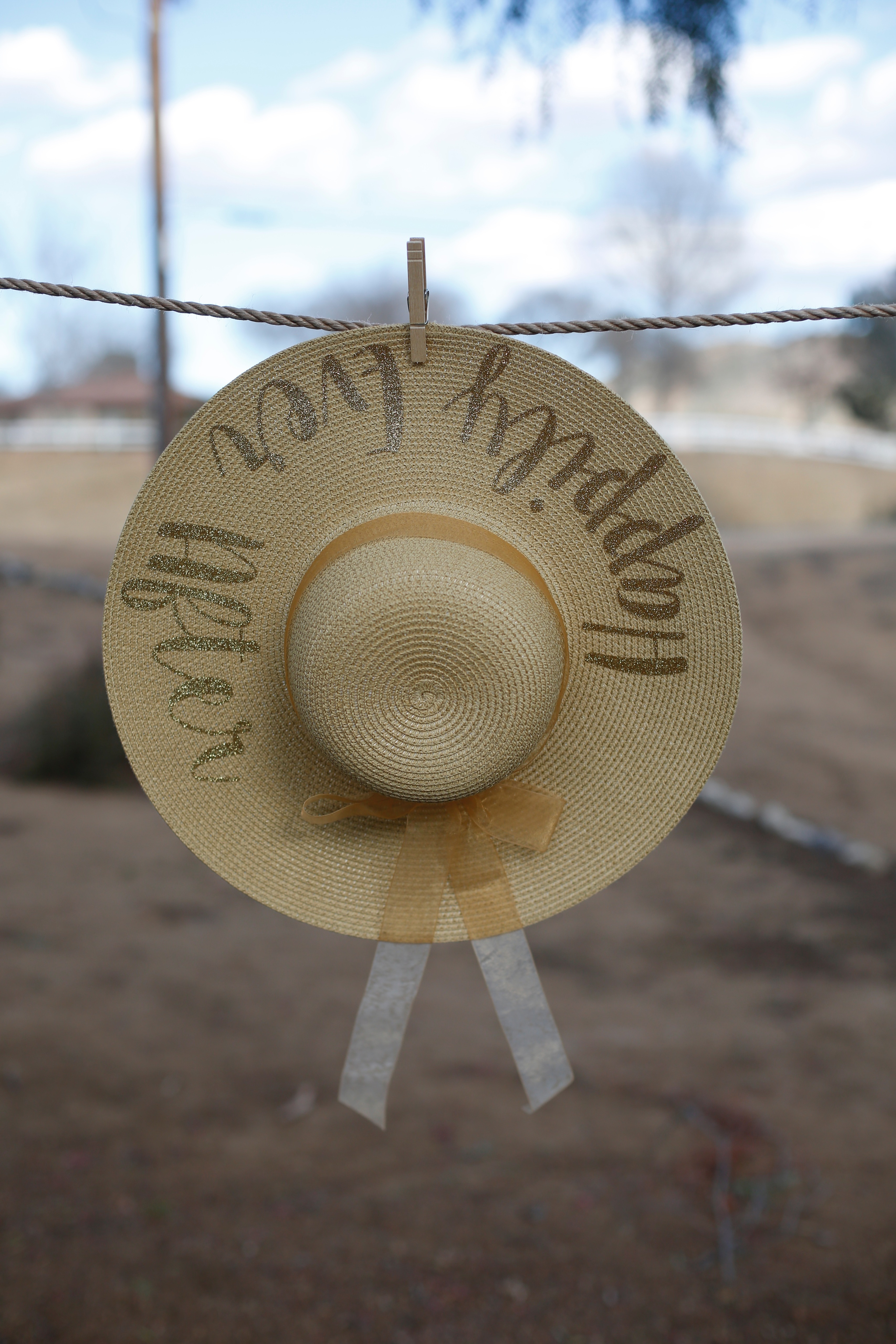 Honeymoon Hat -Shown in tan with with gold glitter. Tone on tone is classic!  by Wicked Stitches Gifts