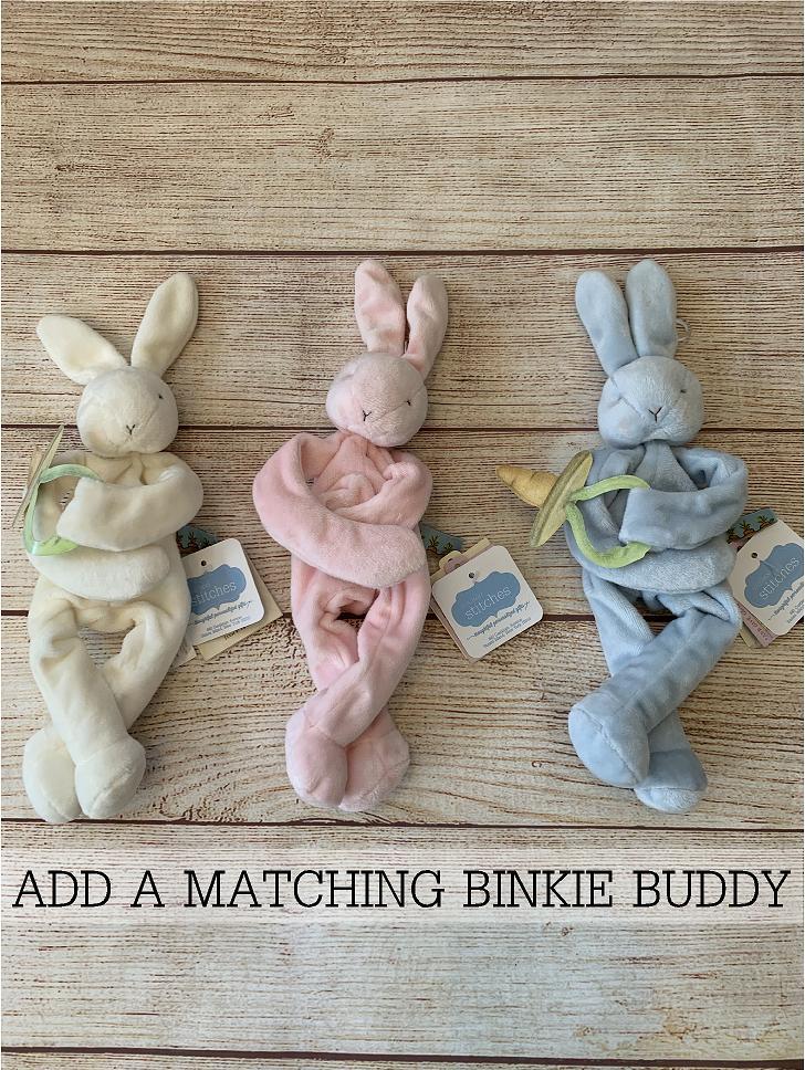 Click to add a Binky Buddy pacifier holder.