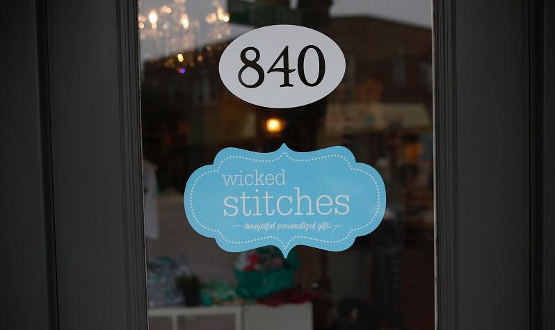 Wicked Stitches front door