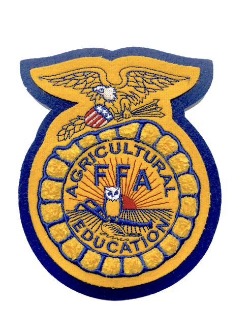 FFA Seal can come in school colors or FFA Colors (shown).