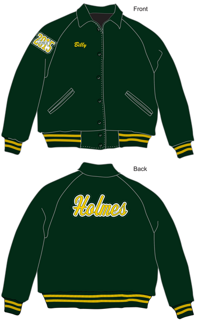 Holmes High School Letter Jacket. Standard jacket for all organizations.