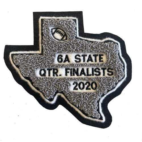 Steele football playoff and award patches 2020