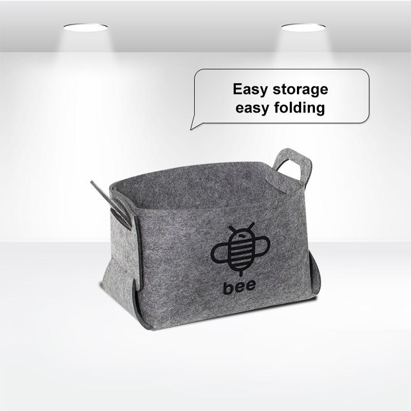 Foldable Felt Storage Basket