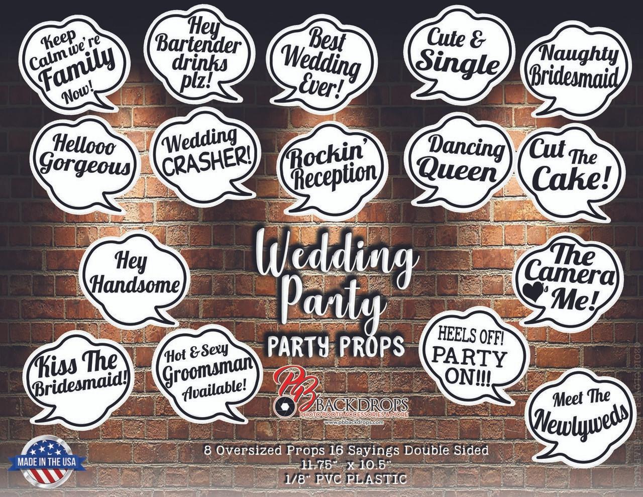 Oversized Speech Bubble Wedding Bundle
