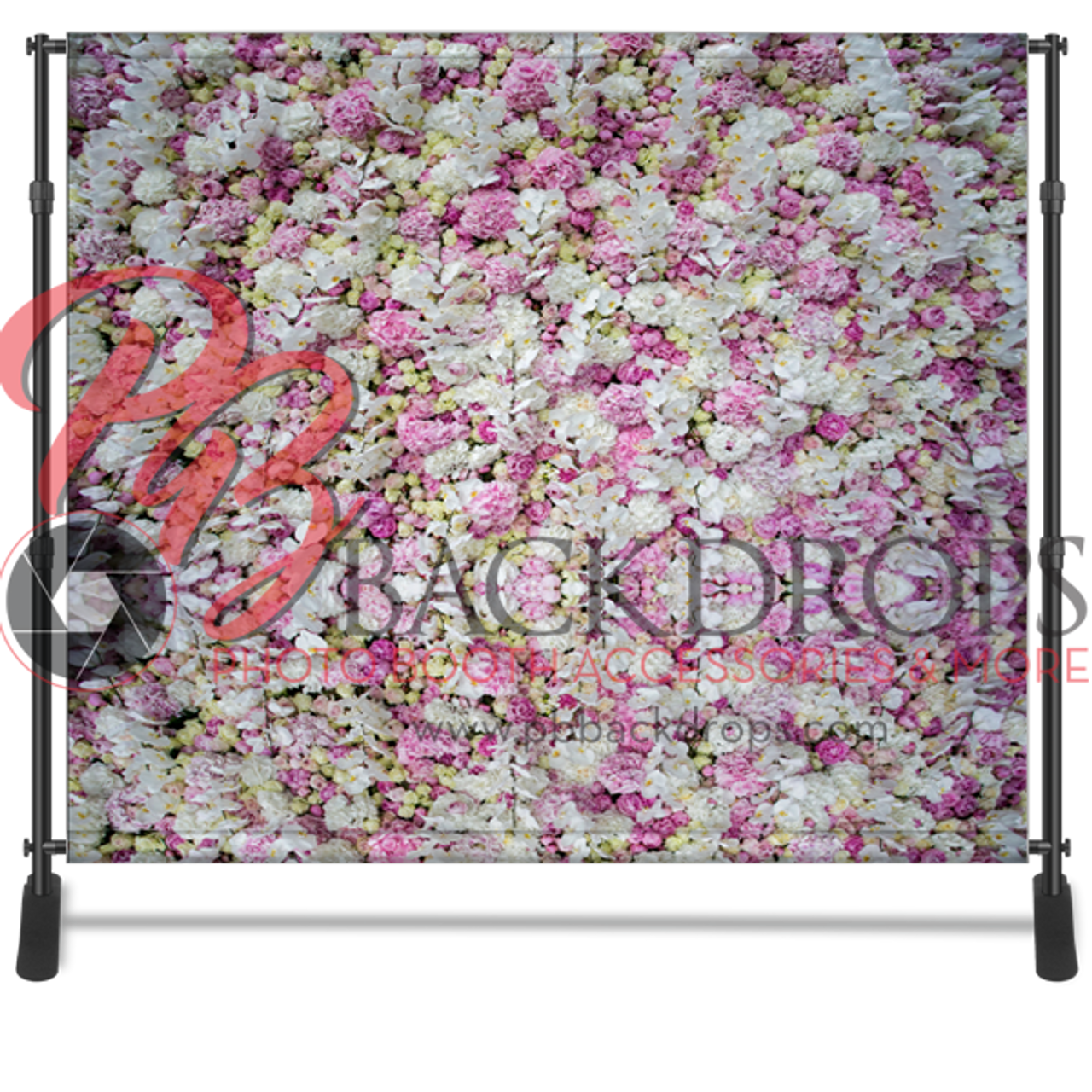 8x8 Printed Tension Fabric Backdrop Spring Flowers Pb Backdrops
