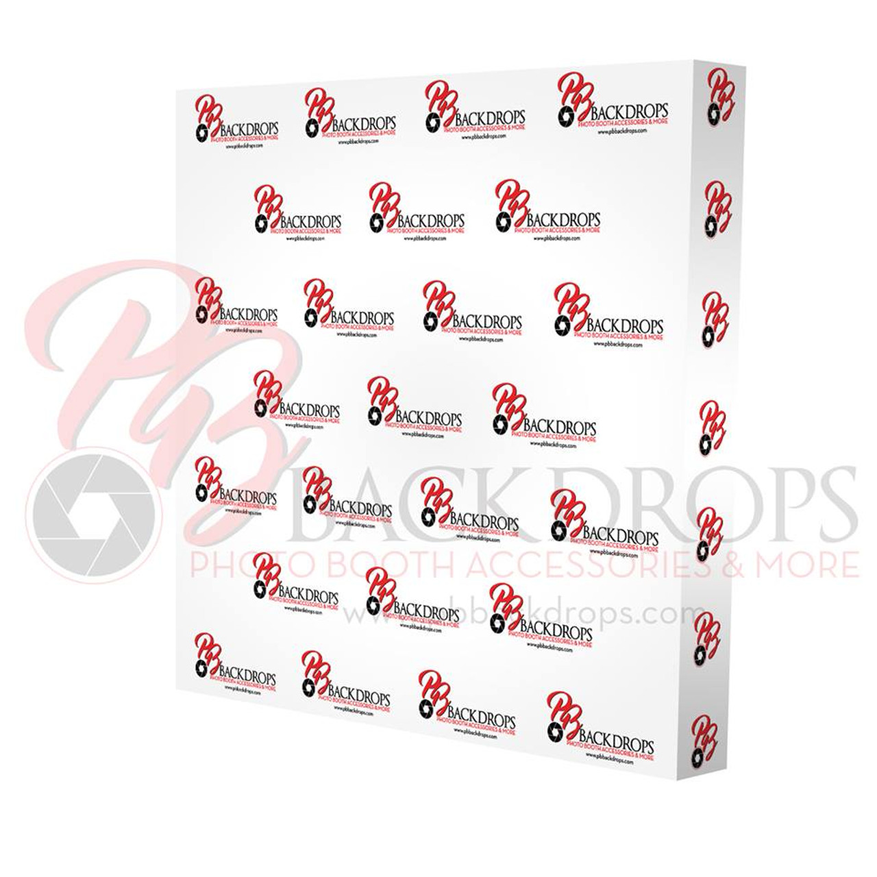 8ft Straight Velcro Fabric Pop Up Display (Graphic Replacement Banner Only)