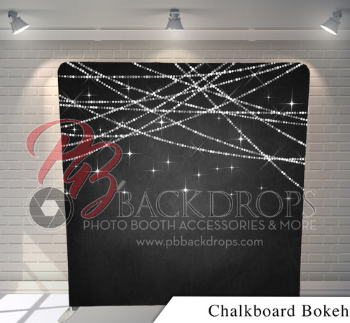 Single-sided Pillow Cover Backdrop  (Chalkboard Bokeh)