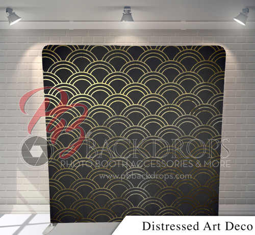 Single-sided Pillow Cover Backdrop  (Distressed Art Deco)