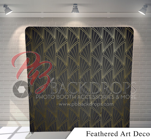Single-sided Pillow Cover Backdrop  (Feathered Art Deco)