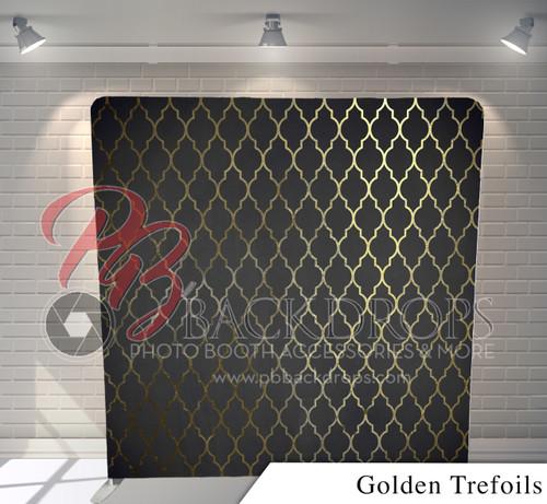 Single-sided Pillow Cover Backdrop  (Golden Trefoils)
