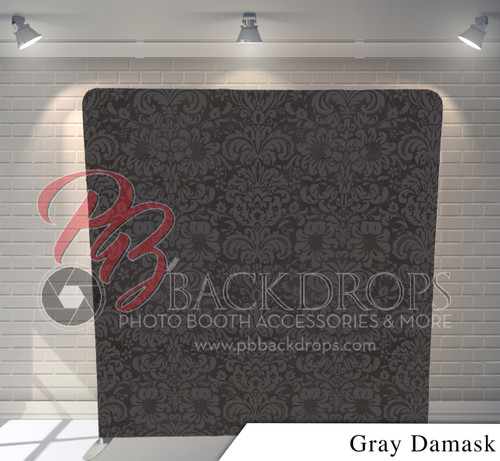 Single-sided Pillow Cover Backdrop  (Gray Damask)