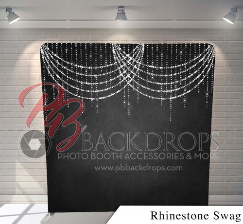 Single-sided Pillow Cover Backdrop  (Rhinestone Swag)