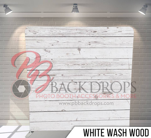 Single-sided Pillow Cover Backdrop  (White Wash Wood)