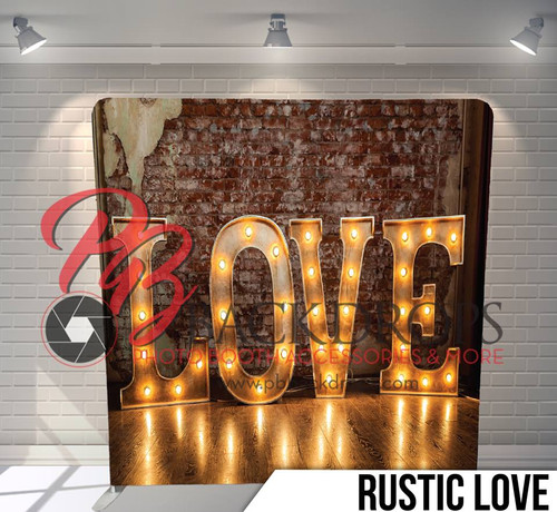 Single-sided Pillow Cover Backdrop  (Rustic Love)
