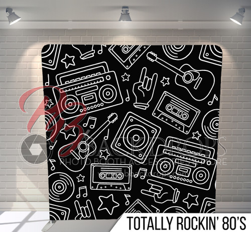 Single-sided Pillow Cover Backdrop  (Totally Rockin 80's)